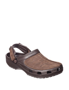 Crocs Brown Slide Sandals