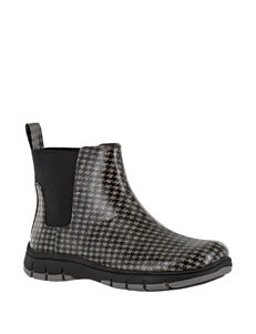 Easy Street Black / Grey Rain Boots