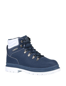 Lugz Navy / White Hiking Boots