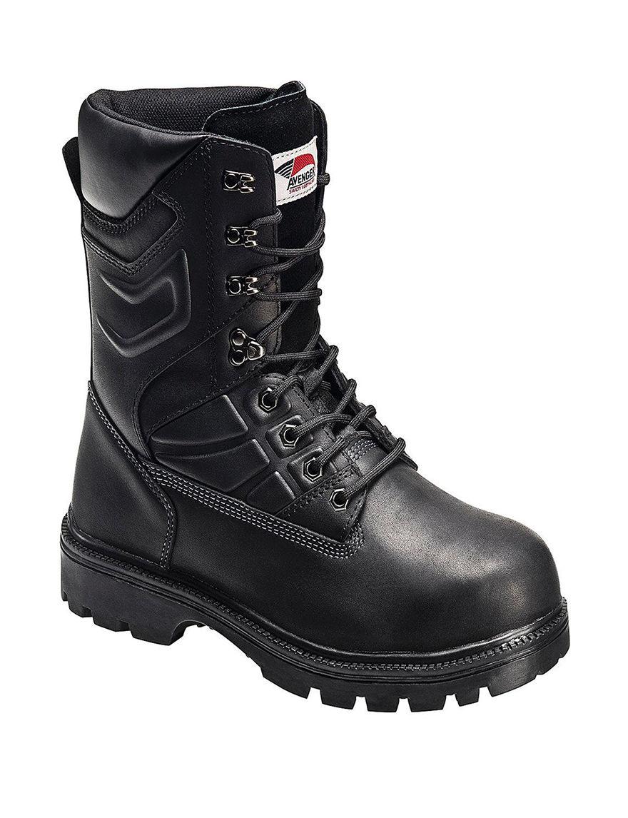 Avenger Black Winter Boots