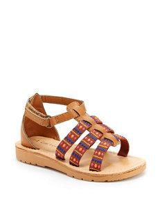 Carter's Brown Flat Sandals