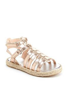 Oshkosh B'Gosh Rose Gold Espadrille Flat Sandals
