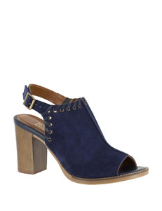 Bella Vita Navy Heeled Sandals