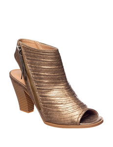CL by Laundry Bronze Heeled Sandals