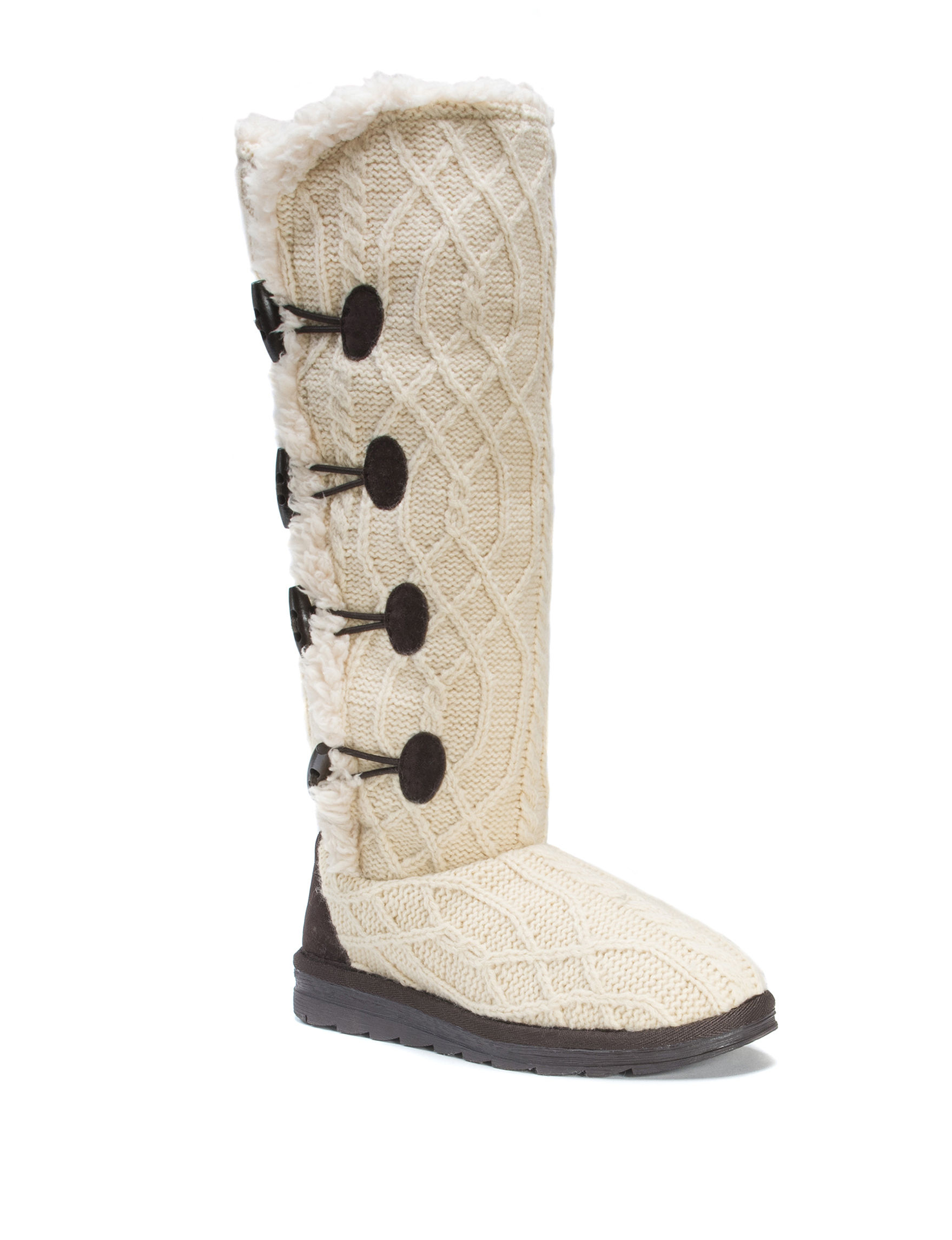 Muk Luks Cream Winter Boots