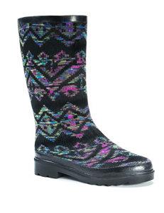 Muk Luks Black Rain Boots