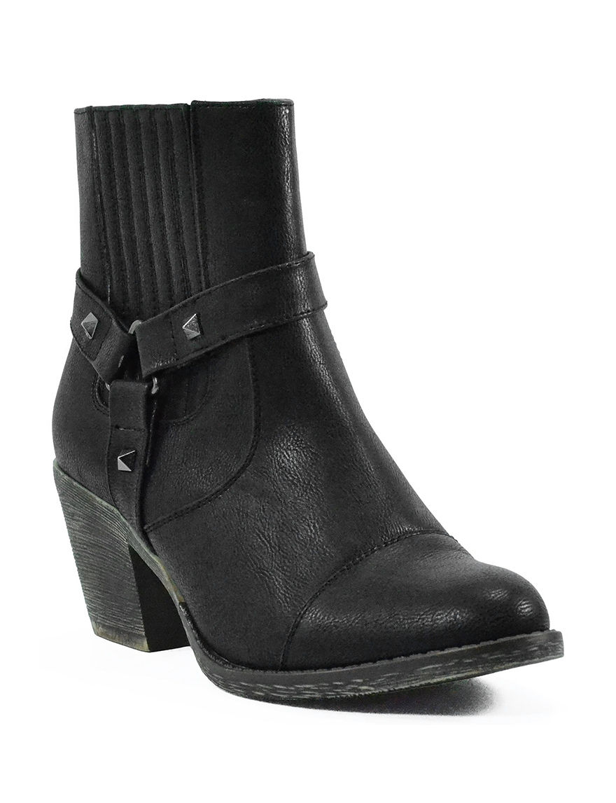 1st Kiss Black Ankle Boots & Booties