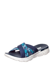 Skechers Navy Flat Sandals Sport Sandals