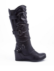 Bare Traps Black Riding Boots