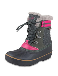 London Fog Chiswick Warm Lined Snow Boot – Girls 11-4