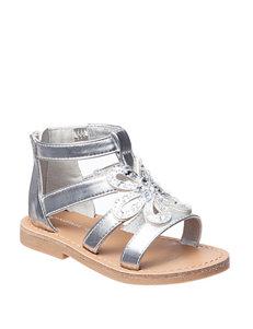 Rampage Silver Flat Sandals Gladiators
