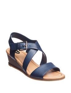 Dr. Scholl's Navy Wedge Sandals
