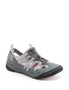 JSport by Jambu Grey Flat Sandals Sport Sandals
