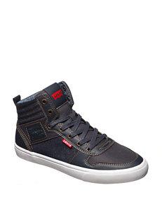 Levi's Wilshire Denim Hi-Top Athletic Shoes