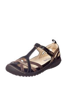 JBU Black Sport Sandals