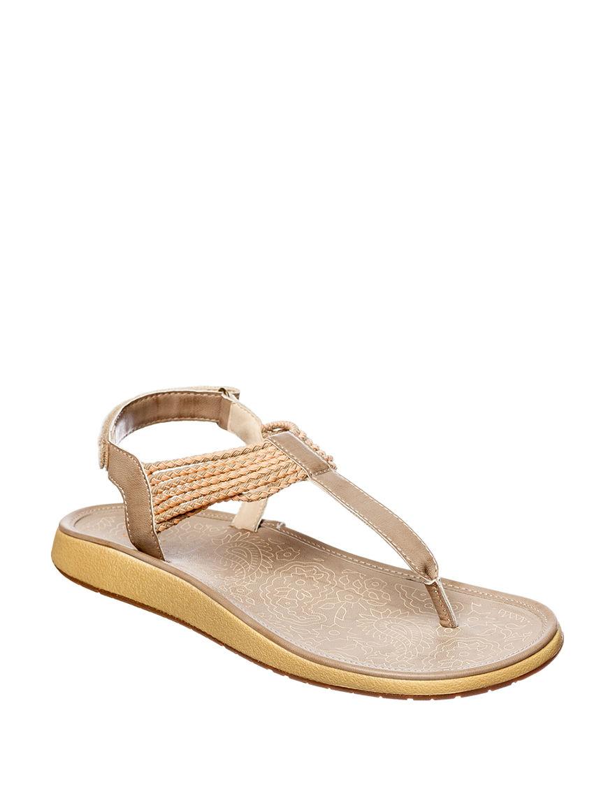 JBU Ivory / Coral Flat Sandals Sport Sandals