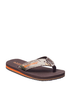 Realtree Brown Flip Flops