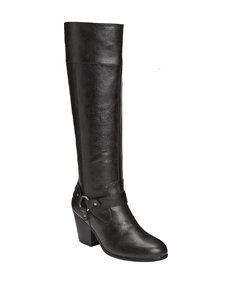 A2 by Aerosoles Black Riding Boots Comfort