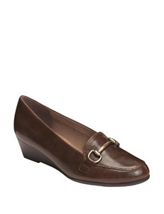 A2 by Aerosoles Brown Wedge Pumps Comfort