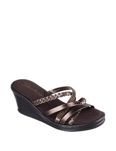 Skechers Bronze Wedge Sandals