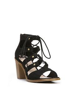 Fergie Black Mambo Heeled Sandals