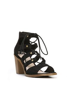 Fergie Black Gladiators Heeled Sandals