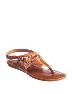 Fergie Tan Flat Sandals