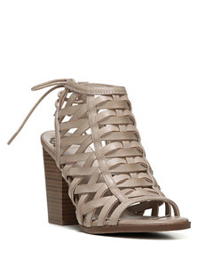 Fergie Nude Gladiators Heeled Sandals