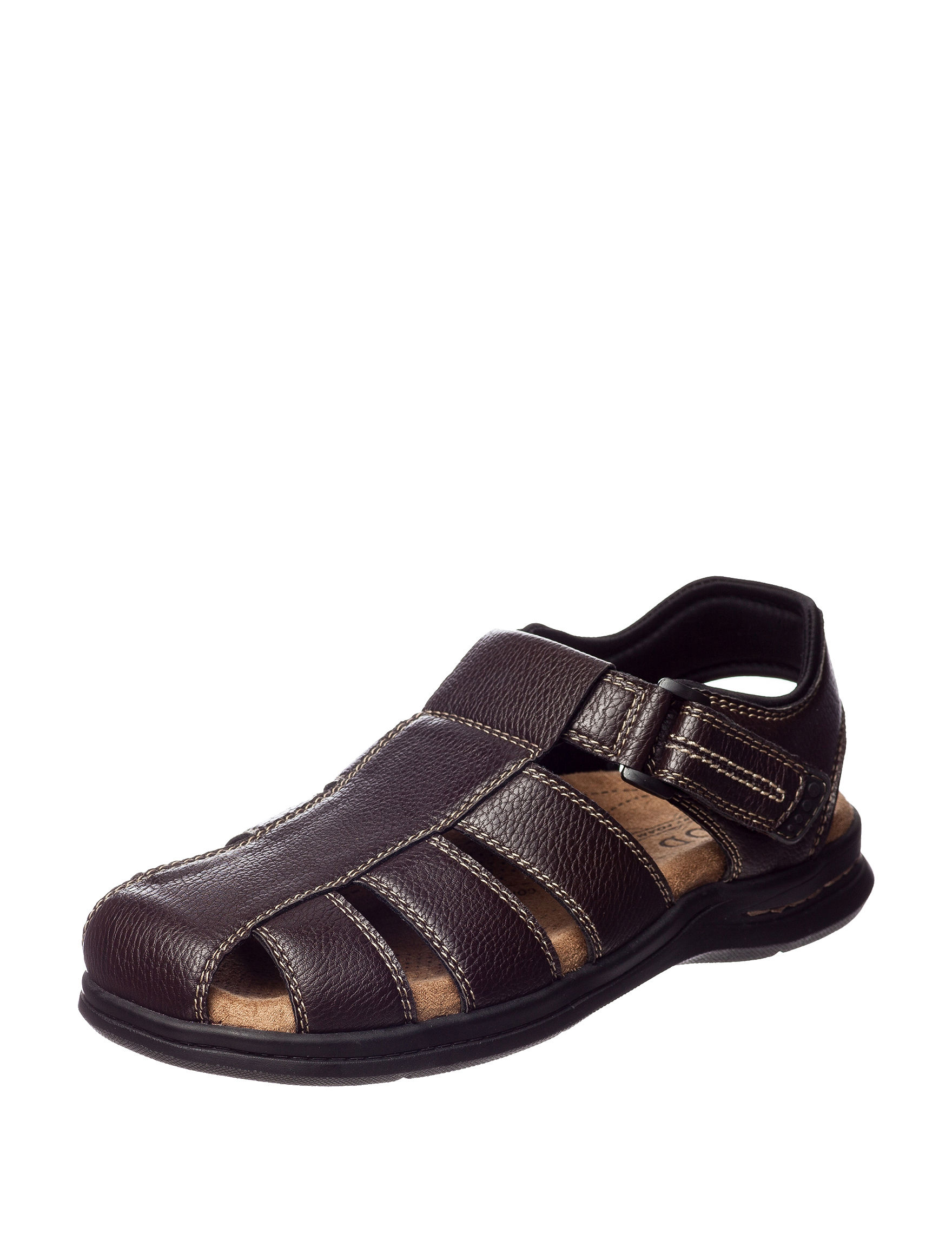 Izod Dark Brown Fisherman Sandals