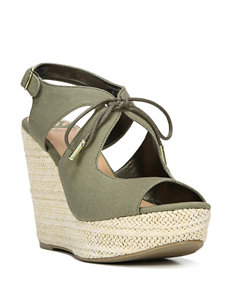 Fergie Moss Wedge Sandals