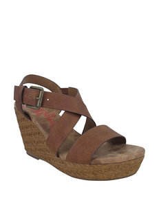 Jellypop Brown Wedge Sandals