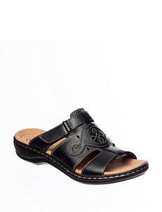 Clarks Black Flat Sandals Comfort