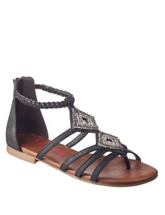 Jellypop Black Flat Sandals Gladiators
