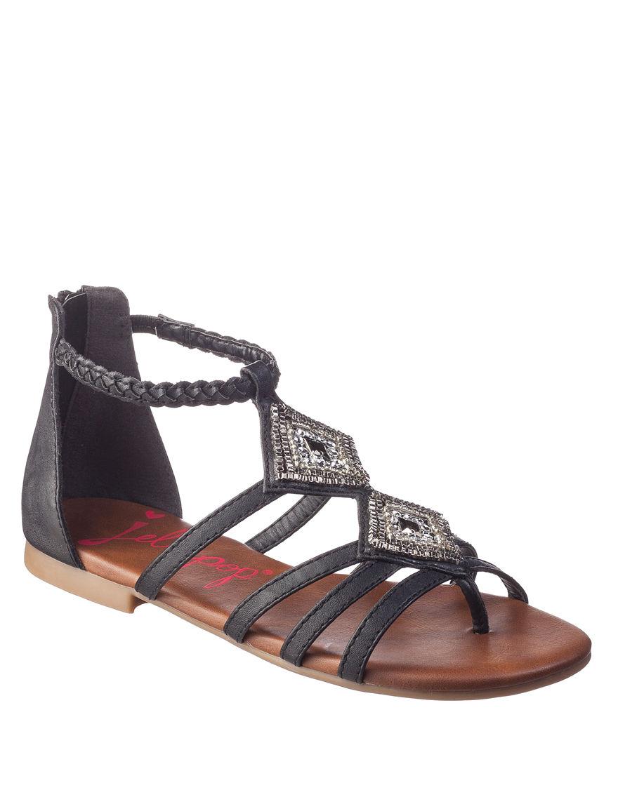 Jellypop Black Flat Sandals Gladiators