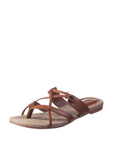 MIA Brown Flat Sandals Flip Flops Gladiators