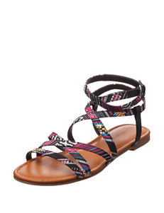 Indigo Rd. Black / Multi Flat Sandals Gladiators