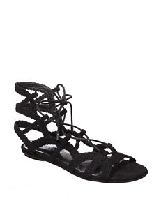 Indigo Rd. Black Flat Sandals Gladiators