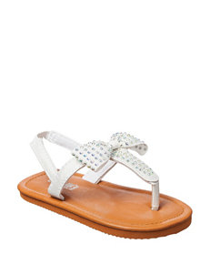 Capelli White Bow Sandals – Toddler Girls 4-9
