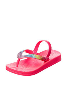 Capelli Pink Glitter Sandals- Toddler Girls 4-9