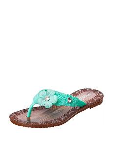 Capelli Mint Flat Sandals Flip Flops