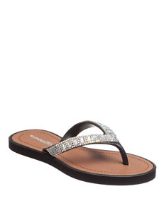 Capelli Black Jewel Sandals- Girls 10-4