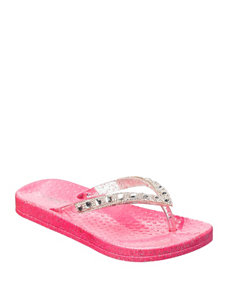 Capelli Pink Jewel Sandals- Girls 10-4