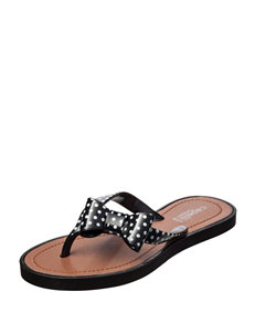 Capelli Black Bow Dot Sandals – Girls 10-4