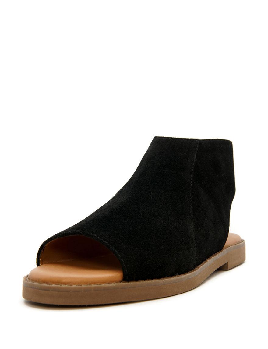 Groove Footwear Black Flat Sandals