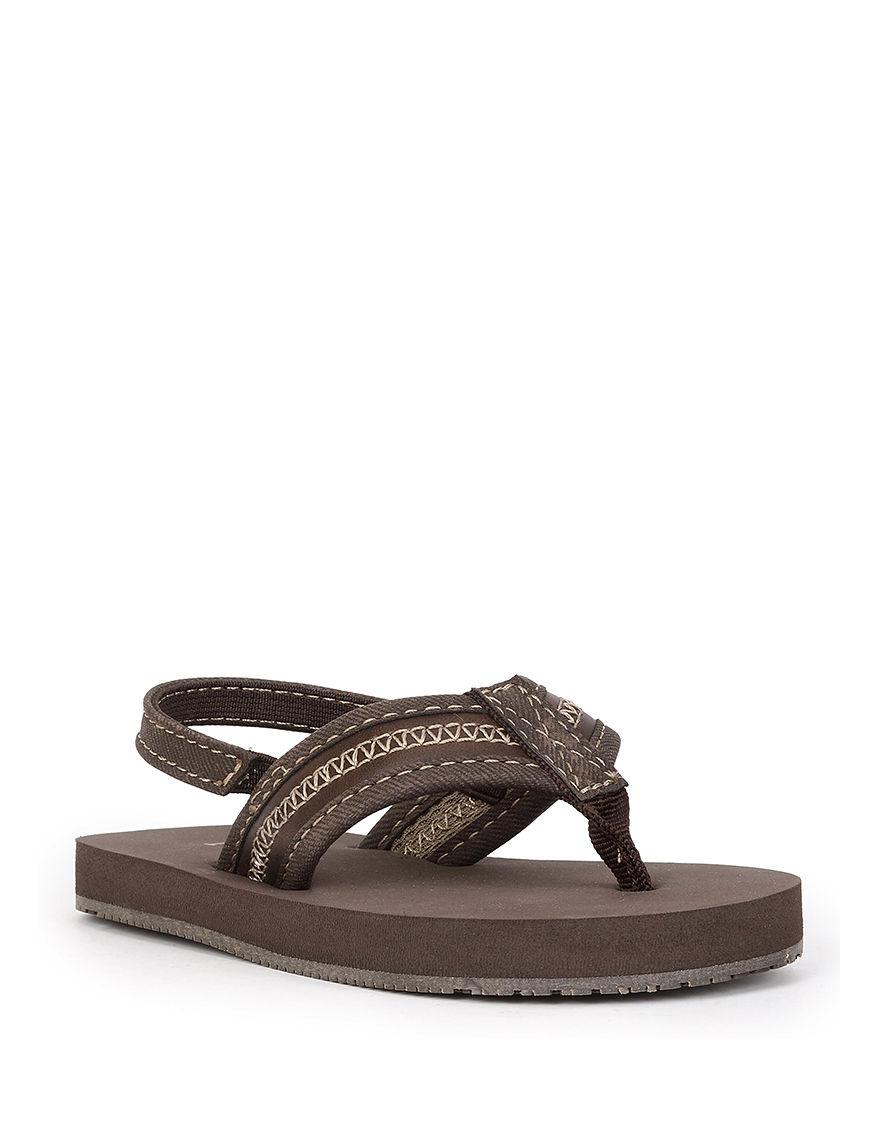 Izod Brown Flip Flops