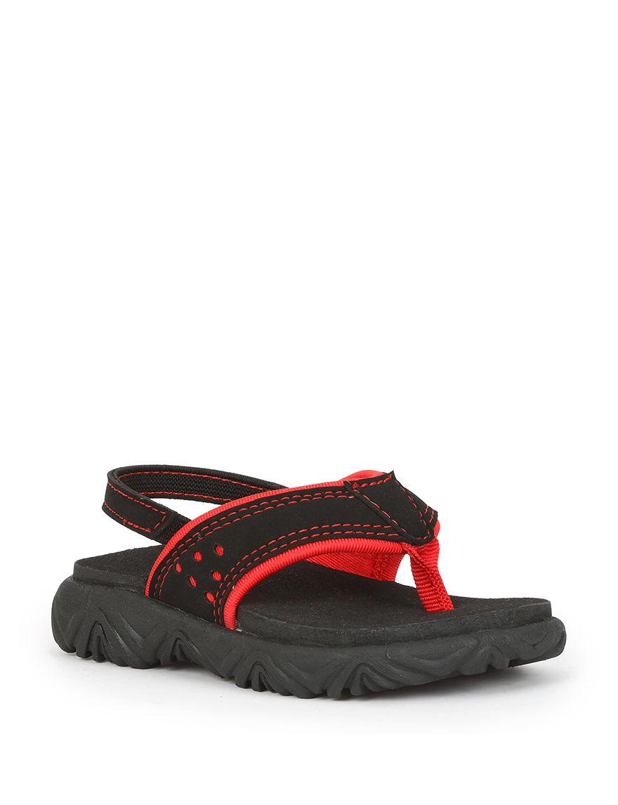 Izod Black Flip Flops