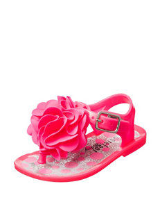 Barefoot Walking Pink Jelly Crib Sandals- Girls 1-4