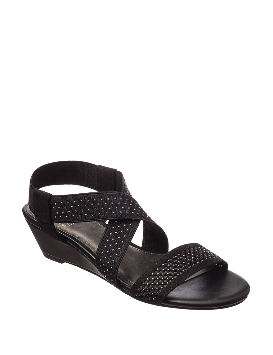 Black impo sandals