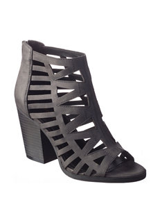 Sugar Black Gladiators Heeled Sandals