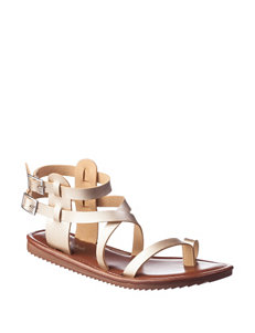 Seven Dials Tan Flat Sandals Gladiators